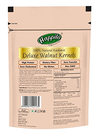 Happilo Deluxe Kashmiri Natural Walnut Kernels