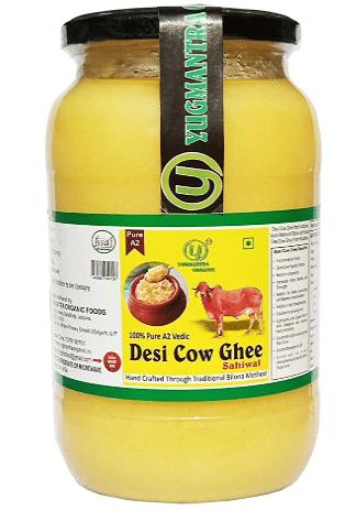 yugmantra Organic Foods desi A2 Cow ghee